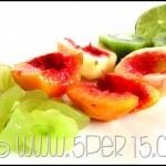Merenda con cous cous e frutta